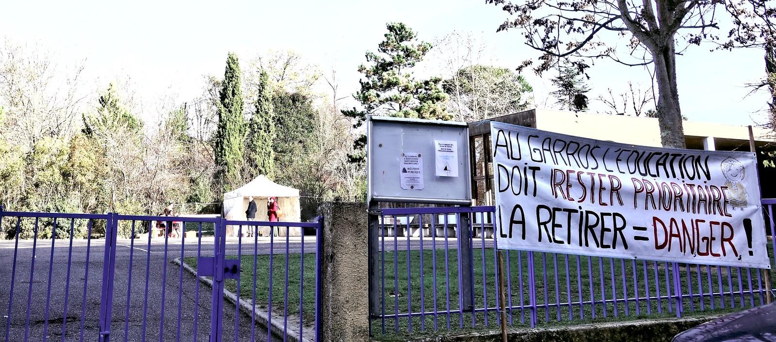 Les écoles du Garros en lutte