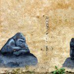 Peinture murale de deux gorilles