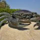 sculpture en bronze d'un crabe