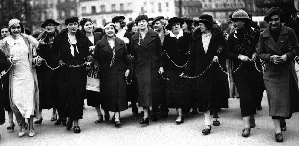 Quand les femmes voulaient bruler leurs chaines, 1935