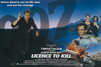 Affiche du film Licence to kill, film de James Bond